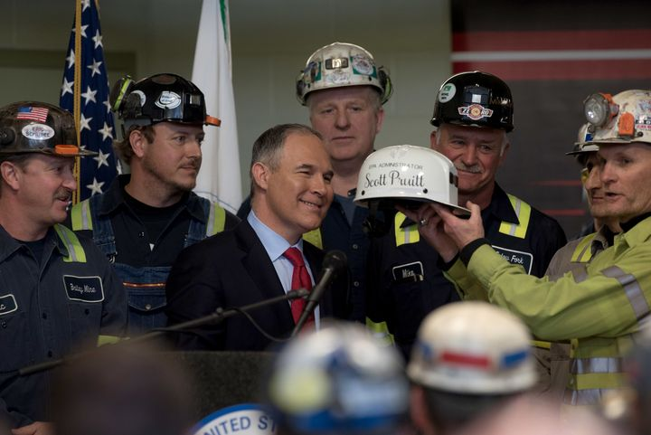 In April, EPA Administrator Scott Pruitt visited a coal mine in Sycamore, Pennsylvania.