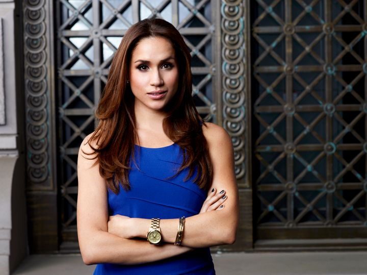 "Actress Meghan Markle as her character Rachel Zane on ""Suits."""