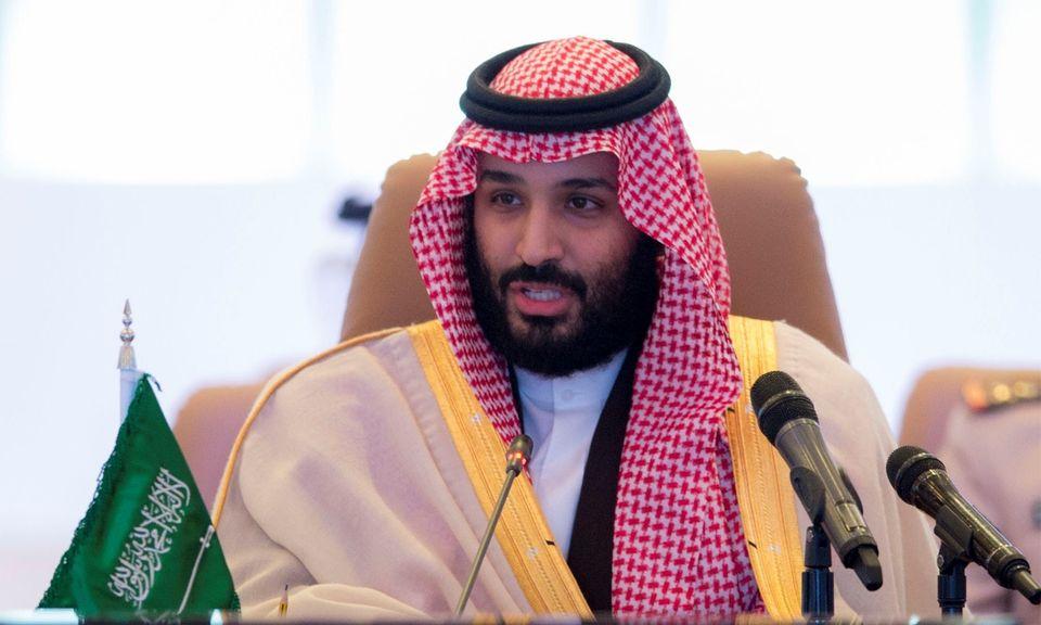 Saudi Crown Prince Mohammed bin Salman speaks in Riyadh on Nov. 26,