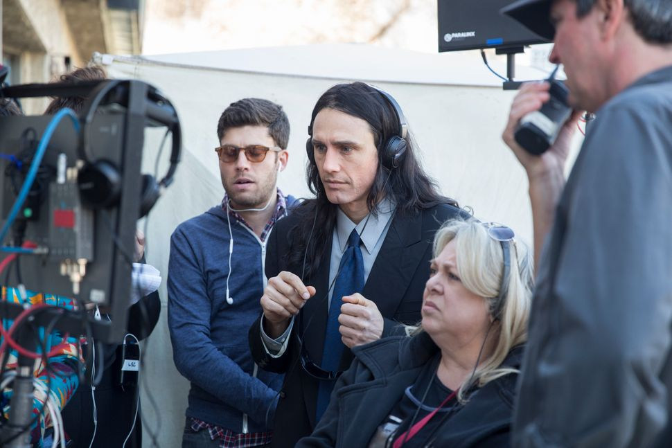 "James Franco directs a scene from ""The Disaster Artist."""