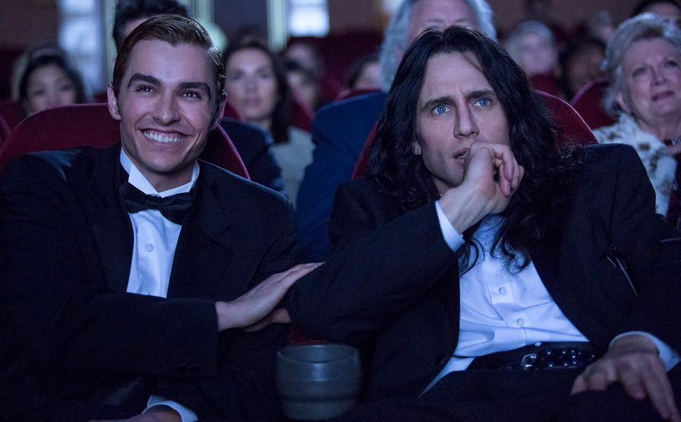"Dave Franco and James Franco star in ""The Disaster Artist."""