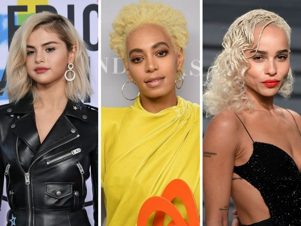 "Bleached locks were a celebrity hair staple this year, with stars like <a href=""https://www.huffingtonpost.com/topic/zoe-krav"