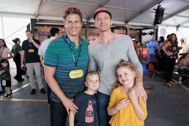 Harris with his family at an event in New York
