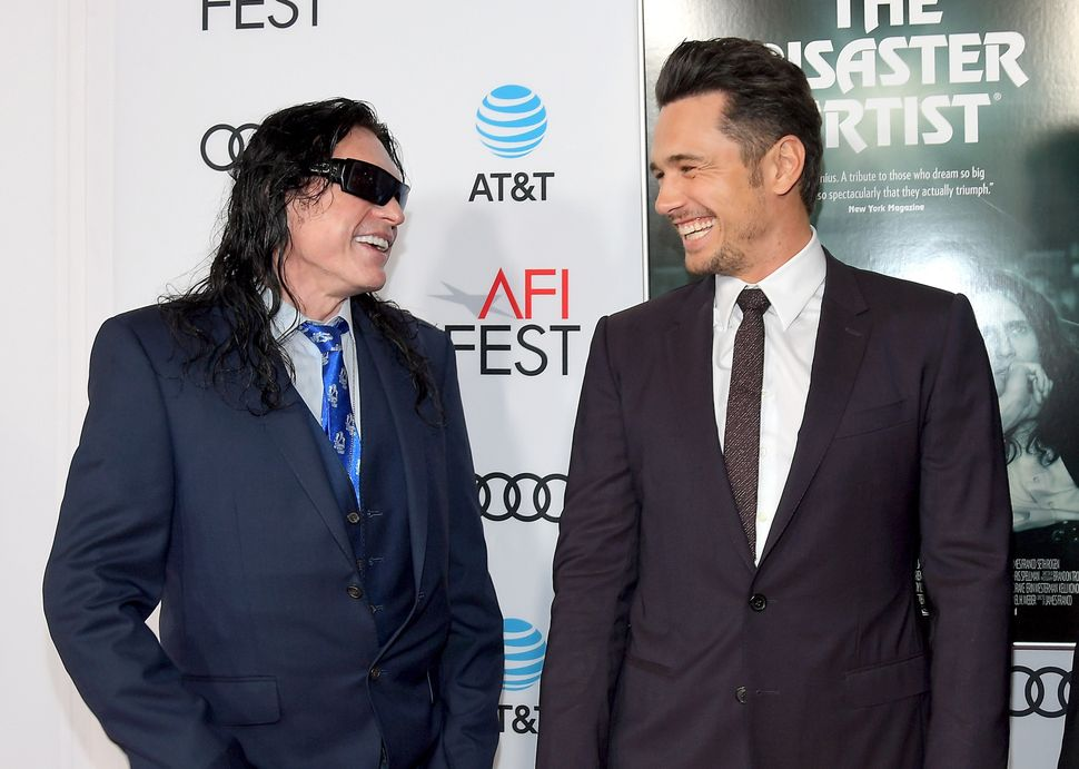 Tommy Wiseau and James Franco attend AFI Fest on Nov. 12, 2017.