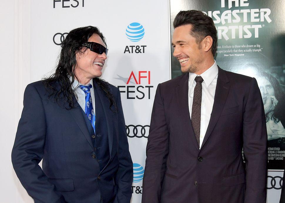 Tommy Wiseau and James Franco attend AFI Fest on Nov. 12, 2017.