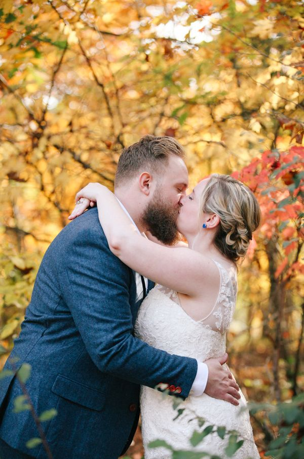 """Laura and Noel married in Knoxville, Tennessee, at the Tellico Village Yacht Club."" -- <i>Leah Moyers Photography<"