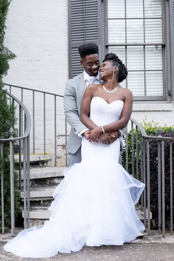 """Shameka and Christopher were married at the Roswell Historic Cottage in Roswell, Georgia, on Nov. 25. Family and friends fro"