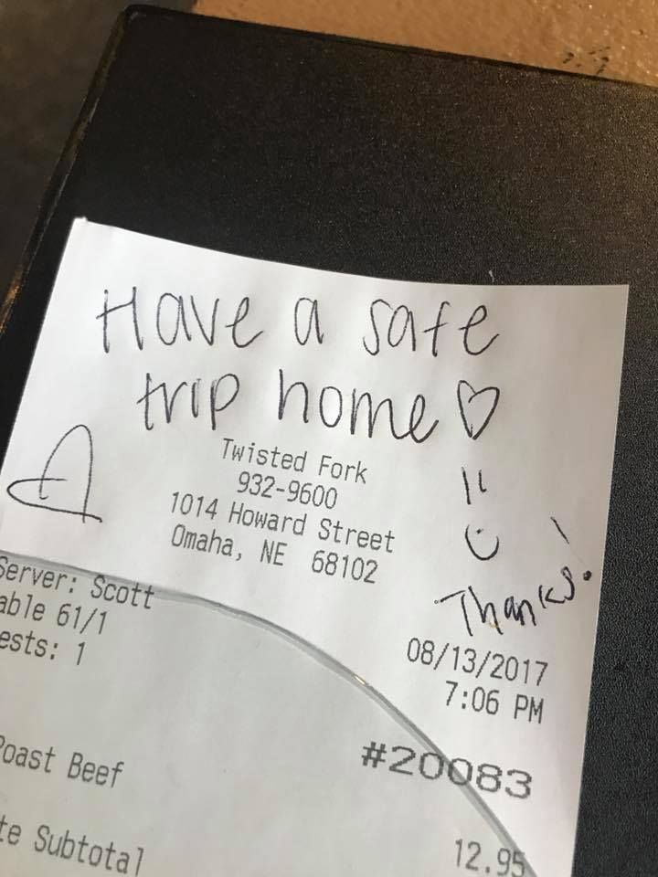 Actual photo of an actual receipt in Omaha, actually.