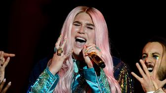 LONDON, ENGLAND - NOVEMBER 12:  Kesha performs on stage during the MTV EMAs 2017 held at The SSE Arena, Wembley on November 12, 2017 in London, England.  (Photo by Dave J Hogan/Dave J Hogan/Getty Images for MTV)