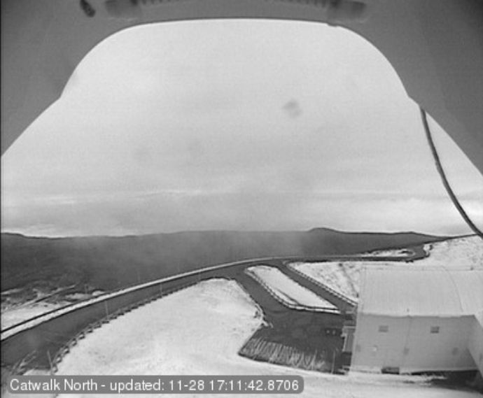 A view of Mauna Kea's Subaru Telescope, facing north, on Tuesday.