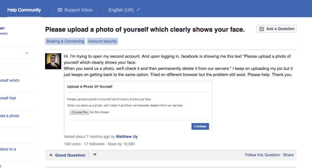 Facebook's Creepy New Security Check Demands You Send Them A Picture Of Your