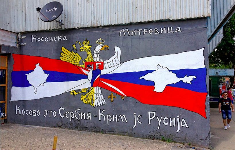 """Kosovo is Serbian; Crimea is Russian"" ?"