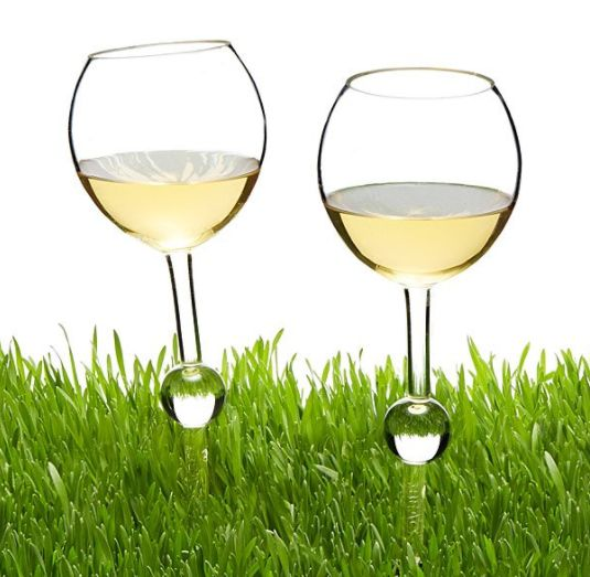 "Spill no more. Get get a set of 2 <a href=""https://www.uncommongoods.com/product/outdoor-wine-glasses-8211-set-of-2"" tar"