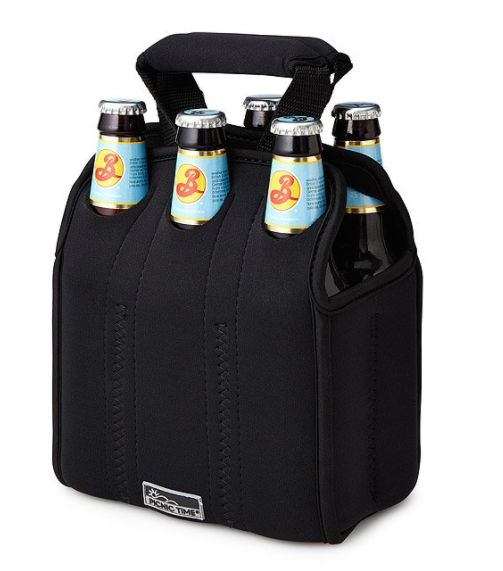 "Keep your favorite brew cold while traveling. Get it <a href=""https://www.uncommongoods.com/product/six-pack-cooler-tote"" tar"