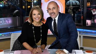 TODAY -- Matt Lauer's 20th Anniversary Celebration -- Pictured: (l-r) Katie Couric and anchor Matt Lauer on Friday, January 6, 2017 -- (Photo by: Peter Kramer/NBC/NBCU Photo Bank via Getty Images)