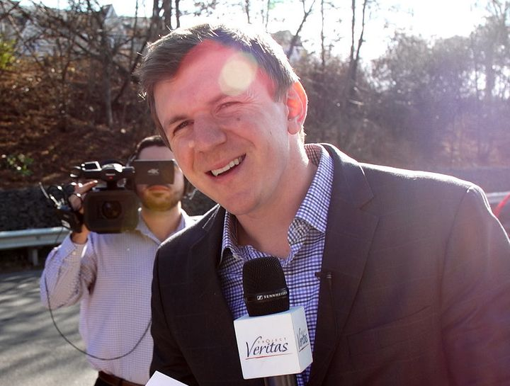 James O'Keefe, the founder of Project Veritas, dodges questions about a woman who falsely claimed in interviews with The Wash