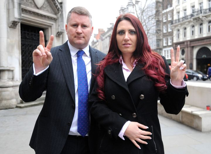 Paul Golding is a founder of Britain First, while Fransen is its deputy leader.