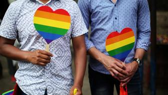 People attend the Gay Pride Parade in San Salvador, El Salvador, June 24, 2017. REUTERS/Jose Cabezas
