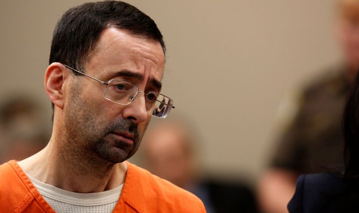 Nassar appears at Ingham County Circuit court on November 22, 2017.