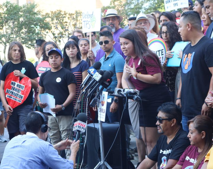 Defend DACA press conference and rally in Los Angeles in September.