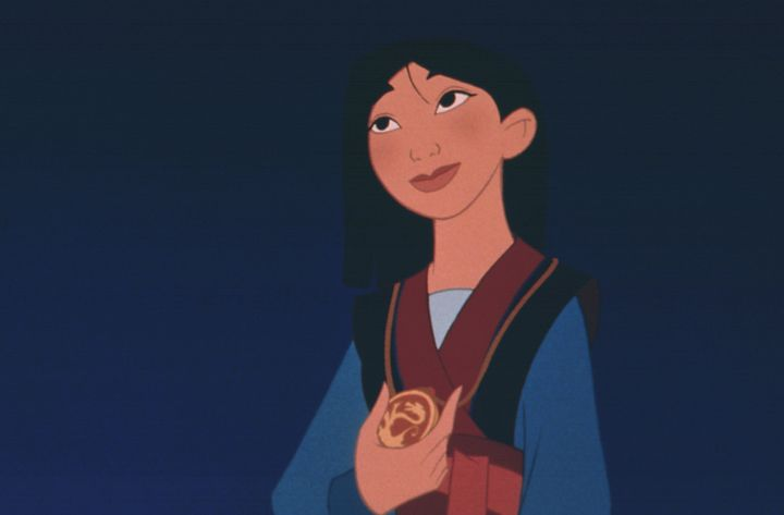 Mulan is depicted in the original Disney film