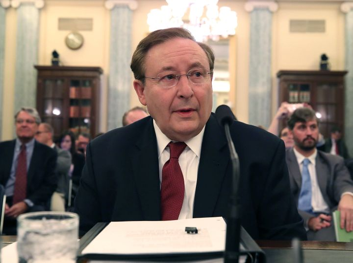 Barry Myers answers questions at his Senate confirmation hearing on Wednesday.