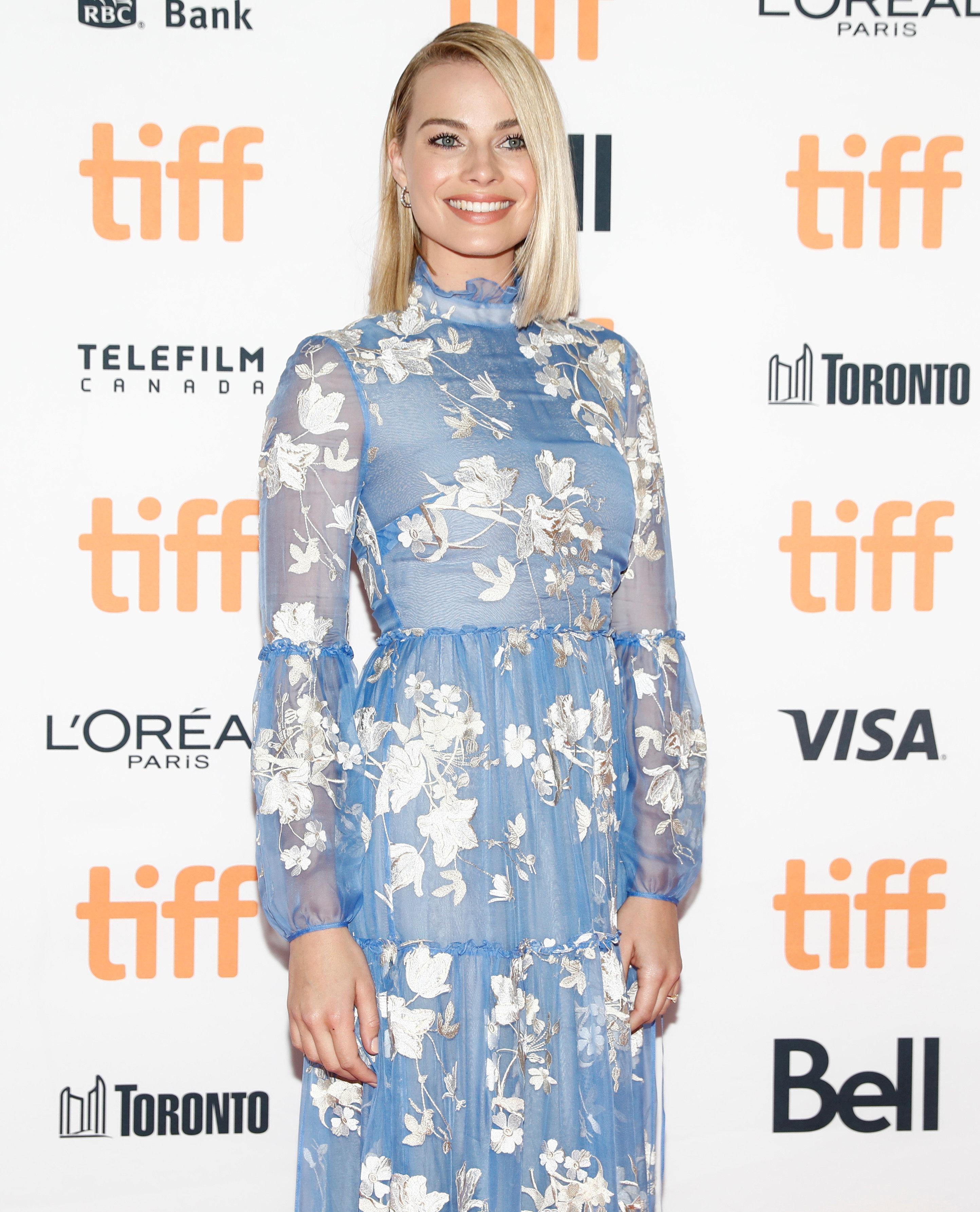"Actor Margot Robbie arrives on the red carpet for the film ""I, Tonya"" at the Toronto International Film Festival (TIFF), in Toronto, Canada, September 8, 2017.    REUTERS/Mark Blinch"