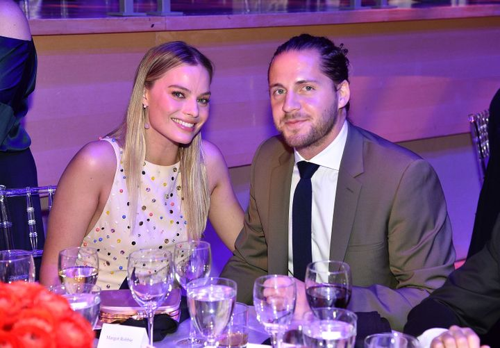 Margot Robbie and her husband, Tom Ackerley, at the Time 100 Gala on April 25.