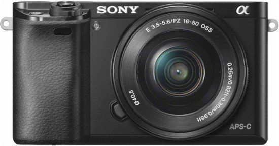 "Sony Alpha a6000 mirrorless camera, <a href=""https://www.bestbuy.com/site/sony-alpha-a6000-mirrorless-camera-with-16-50m"