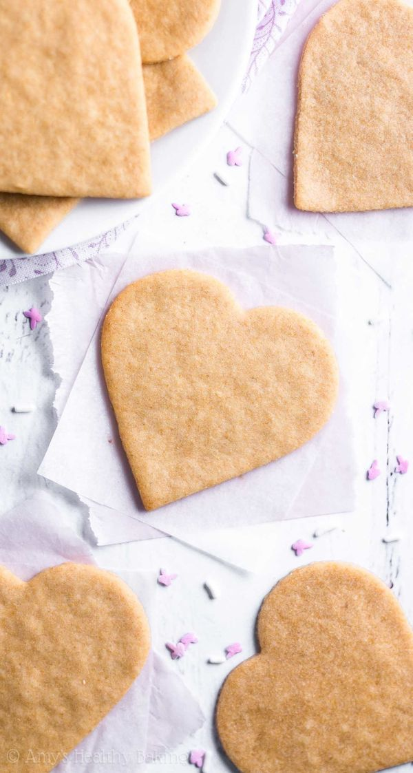 """""""These healthier sugar cookies start withwhite whole wheat flour. ...Unlike many traditional recipes that call fo"""