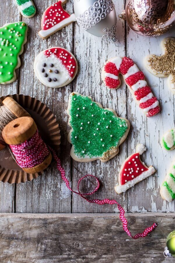 """""""Don't be freaked if you're not a fan of eggnog, you will still enjoy these sugar cookies. The eggnog really just"""