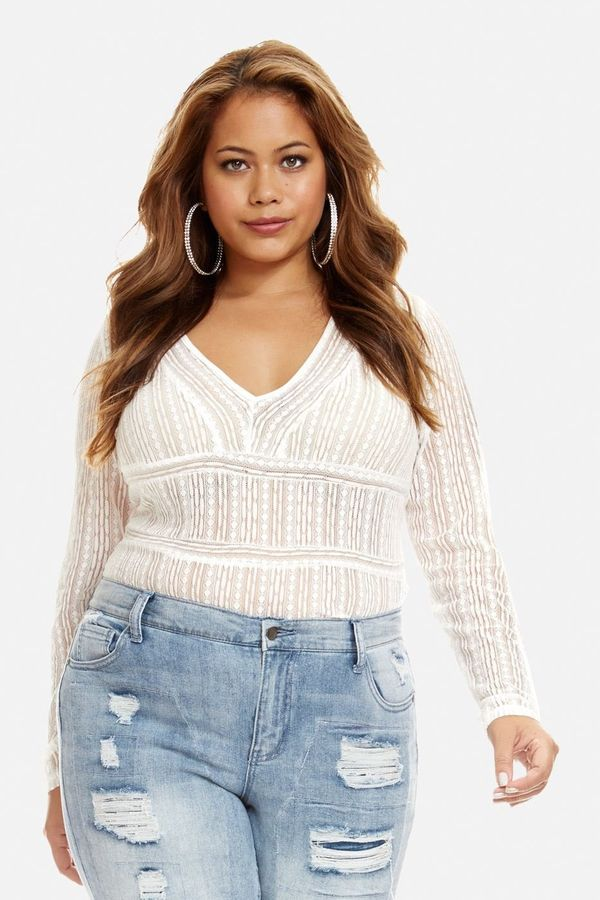 FullBeauty carries up to 4X in bodysuits, but up to size 44 in other clothing styles, so they're one of the most size-inclusi
