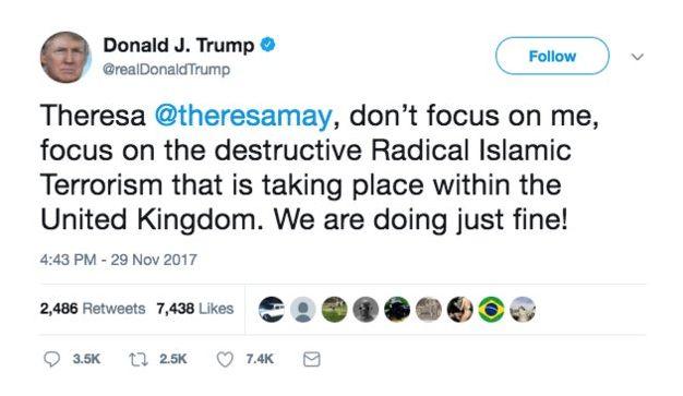 Donald Trump Attacks The Wrong 'Theresa May' On