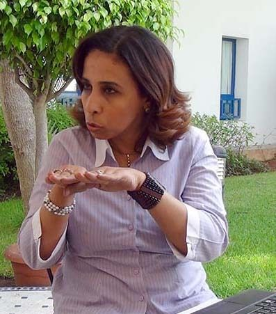<em>Saady discusses her experience in conflict zones (Abu-Fadil)</em>