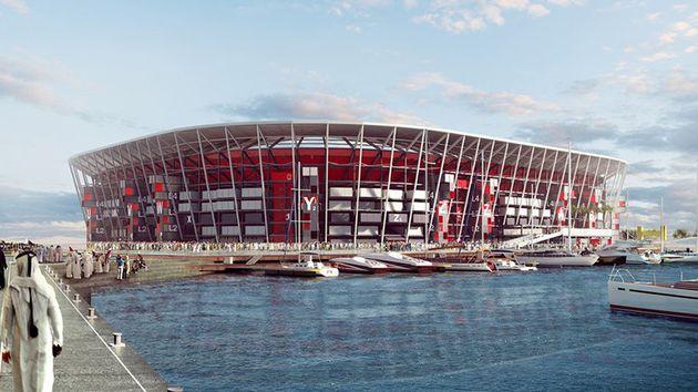 Στο Κατάρ χτίζεται ένα γήπεδο ποδοσφαίρου από κοντέινερ