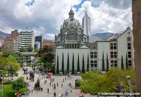 Downtown Medellin, Colombia.