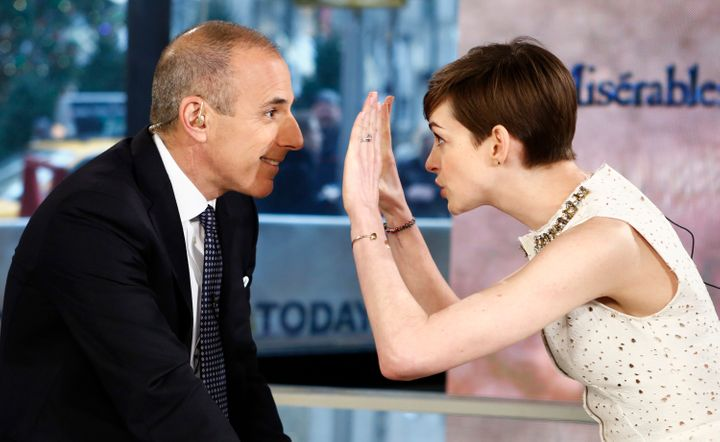 Anne Hathaway was able to redirect the interview by calling out exploitation.