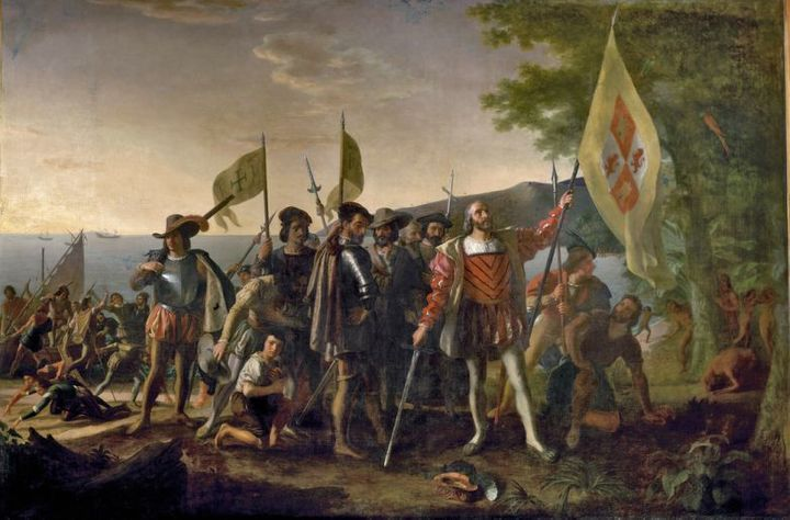 American painter John Vanderlyn was commissioned by Congress in 1836 to paint the <em>Landing of Columbus</em> for the Capit