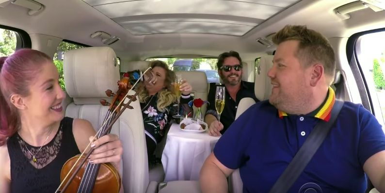 James Corden Has A Special Treat In Store For Kelly Clarkson On Carpool Karaoke