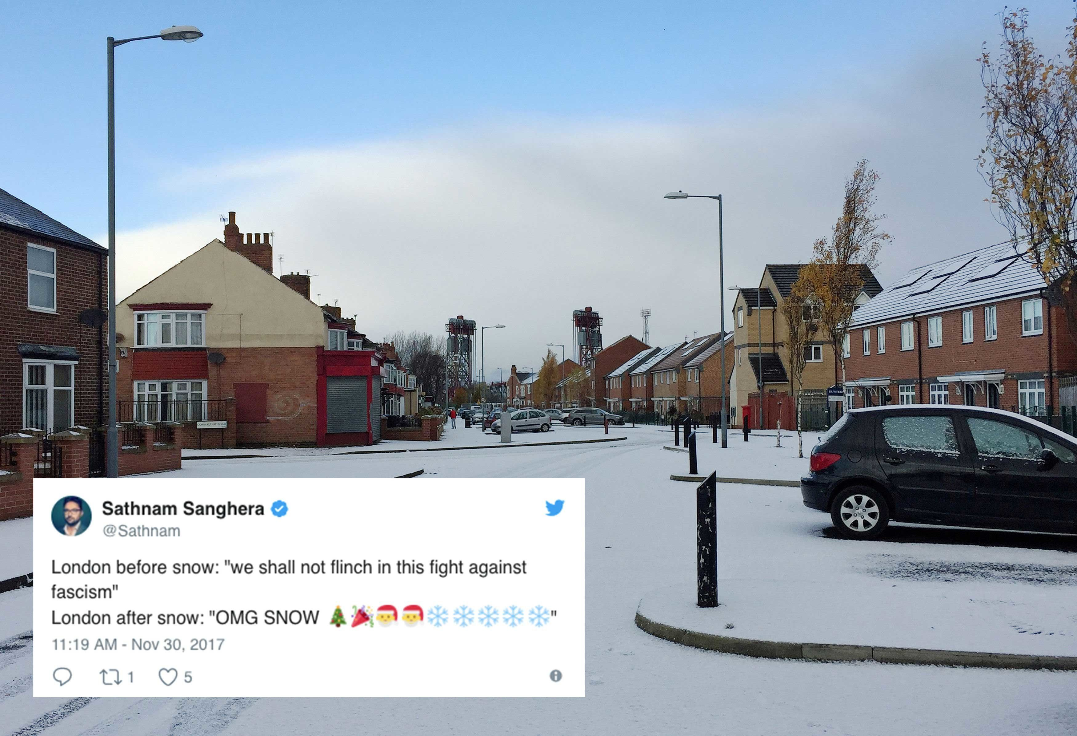 Snow Is Falling In The UK And Brits Are Genuinely Losing