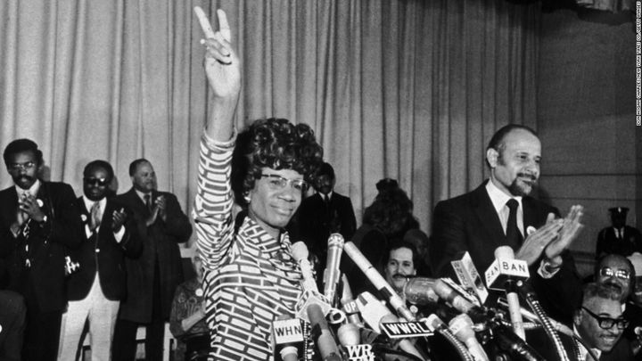 Rep. Shirley Chisholm was also the first black candidate for a major party's presidential nomination.
