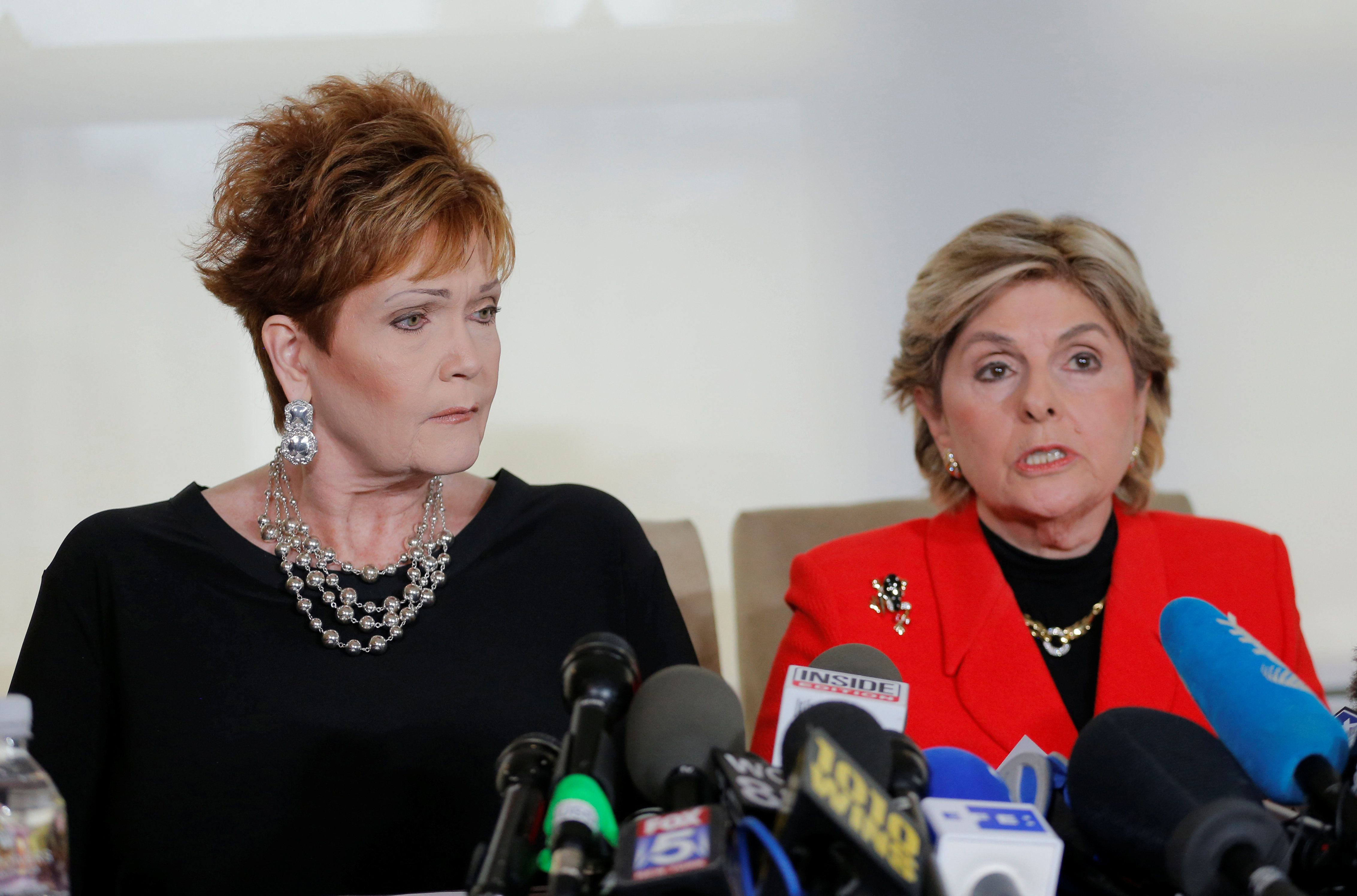 Lawyer Gloria Allred, right, with her client Beverly Young Nelson, one of the women who has accused Alabama GOP Senate candid