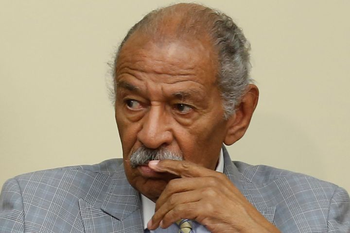 A family spokesman says Rep. John Conyers has been hospitalized for a stress-related illness.