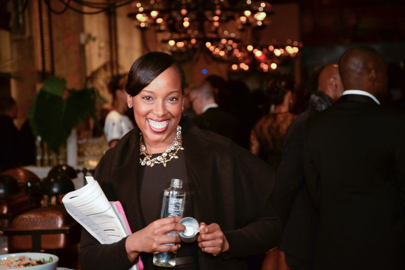 Dreena Whitfield working at the Face Africa Gala
