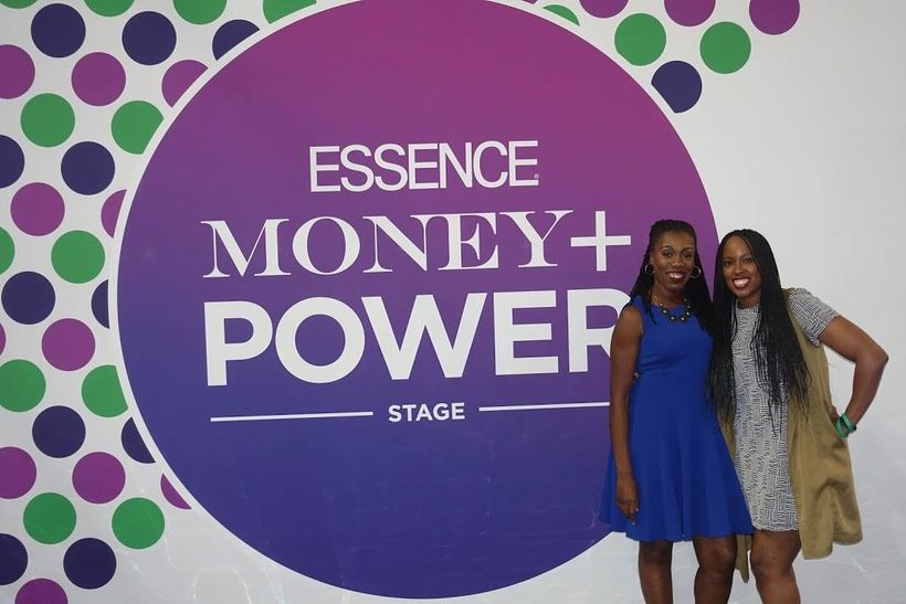 "Dreena Whitfield with client Tiffany ""The Budgetnista"" Aliche at the 2016 Essence Festival"