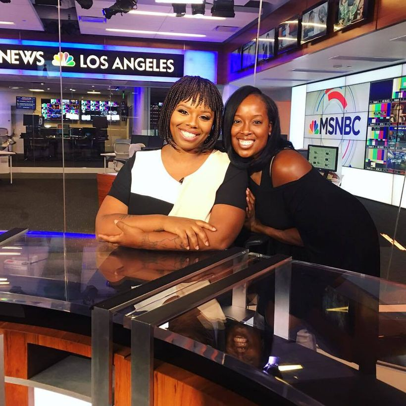 Dreena Whitfield with client, Patrisse Cullors, co-founder of Black Lives Matter at MSNBC