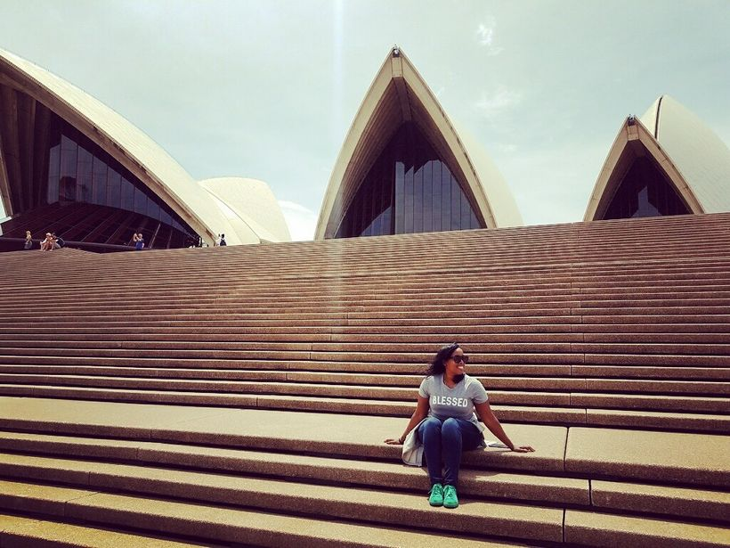 Dreena Whitfield at the Sydney Opera House in Australia