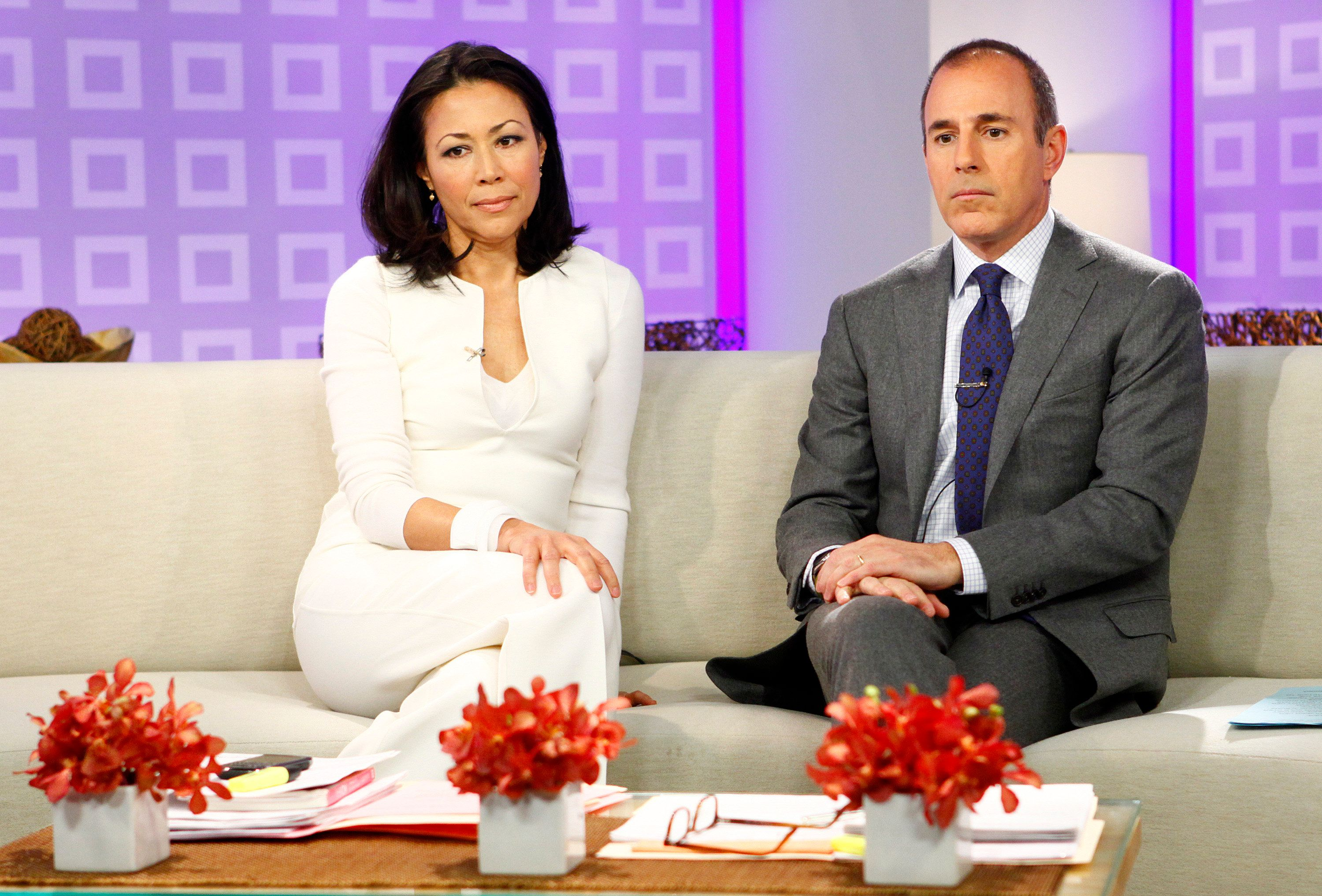 TODAY -- Pictured: (l-r) Ann Curry and Matt Lauer appear on NBC News' 'Today' show  (Photo by Peter Kramer/NBC/NBCU Photo Bank via Getty Images)