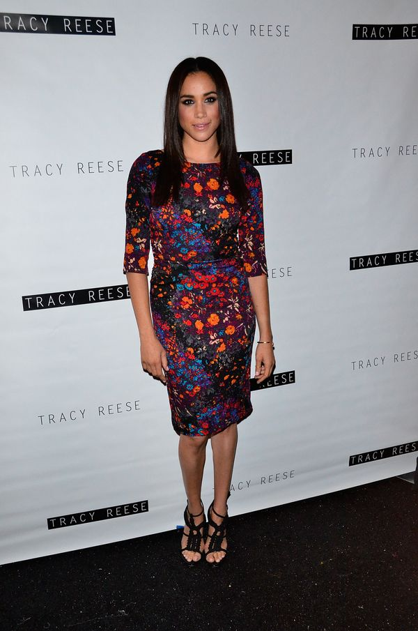 At the Tracy Reese show during Spring 2014 Mercedes-Benz Fashion Week at The Studio at Lincoln Center in New York.