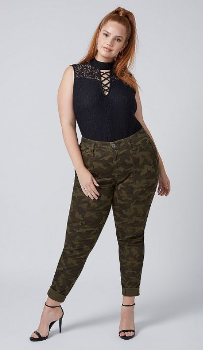 You can't pull together a trendy plus-size roundup without including Lane Bryant. The retailer carries up to size 28, and car